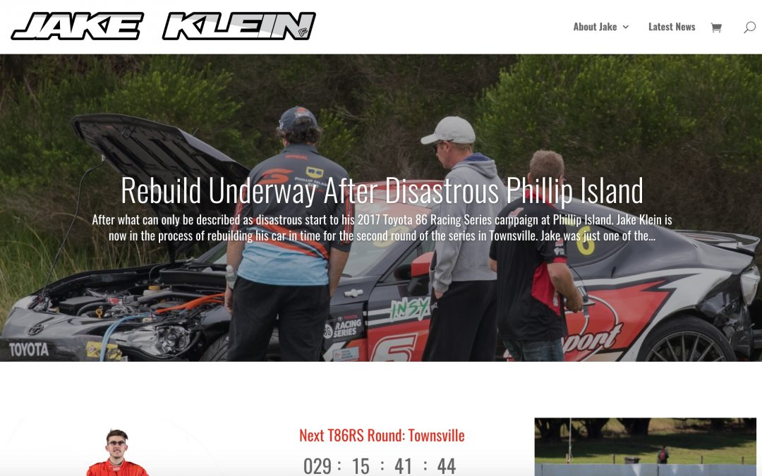 Web & Social: Jake Klein Motorsport Website