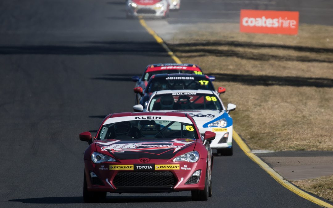 Jake Klein racing in the Toyota 86 Series at Sydney Motorsport Park